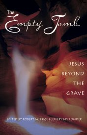 The Empty Tomb: Jesus beyond the Grave, a book by Jeff Lowder and Robert Price containing chapters by Richard Carrier on three different theories of how the resurrection story originated, the idea that the body was stolen, the idea that the body was misplaced, and the idea that Jesus was originally believed to have risen in a new body, leaving the old one behind: the hyperlinks immediately following this image will take you to the various format options available to purchase.